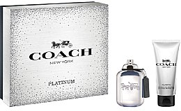 Düfte, Parfümerie und Kosmetik Coach Platinum - Duftset (Eau de Toilette/60ml + Duschgel/100ml)