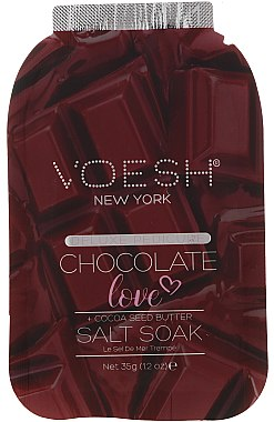 4-stufige Chocolate Love Fußpflege - Voesh Deluxe Pedicure Chocolate Love Pedi In A Box 4in1 (1. Meer Badesalz, 2. Zuckerpeeling, 3. Schlammmaske, 4. Massagebutter)(35g) — Bild N2
