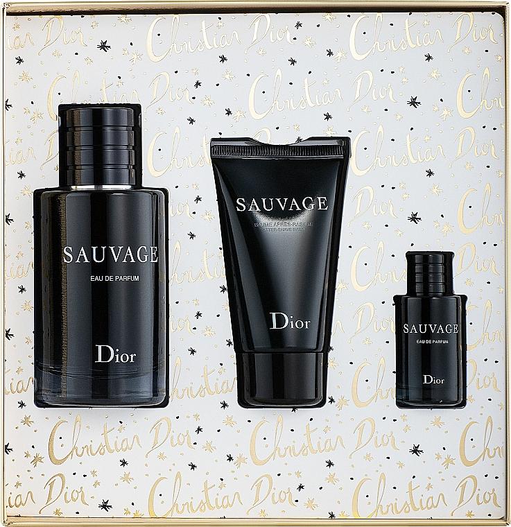 Dior Sauvage Eau de Parfum - Duftset (Eau de Parfum 100ml + Eau de Parfum 10ml + After Shave Balsam 50ml) — Bild N2