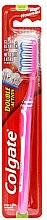 Düfte, Parfümerie und Kosmetik Zahnbürste mittel Double Action rosa-weiß - Colgate Double Action Medium