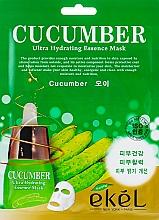 Düfte, Parfümerie und Kosmetik Feuchtigkeitsspendende Tuchmaske für das Gesicht mit Gurkenextrakt - Ekel Cucumber Ultra Hydrating Essence Mask