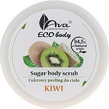 Düfte, Parfümerie und Kosmetik Natürliches Zuckerpeeling für den Körper mit Kiwi - Ava Laboratorium Eco Body Natural Sugar Scrub Kiwi