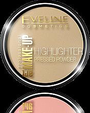 Düfte, Parfümerie und Kosmetik Eveline Cosmetics Highlighter Pressed Powder Art Professional Make-up - Aufhellender Gesichtspuder