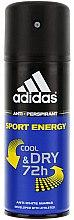 Düfte, Parfümerie und Kosmetik Deospray Antitranspirant - Adidas Anti-Perspirant Sport Energy Cool Dry 72h