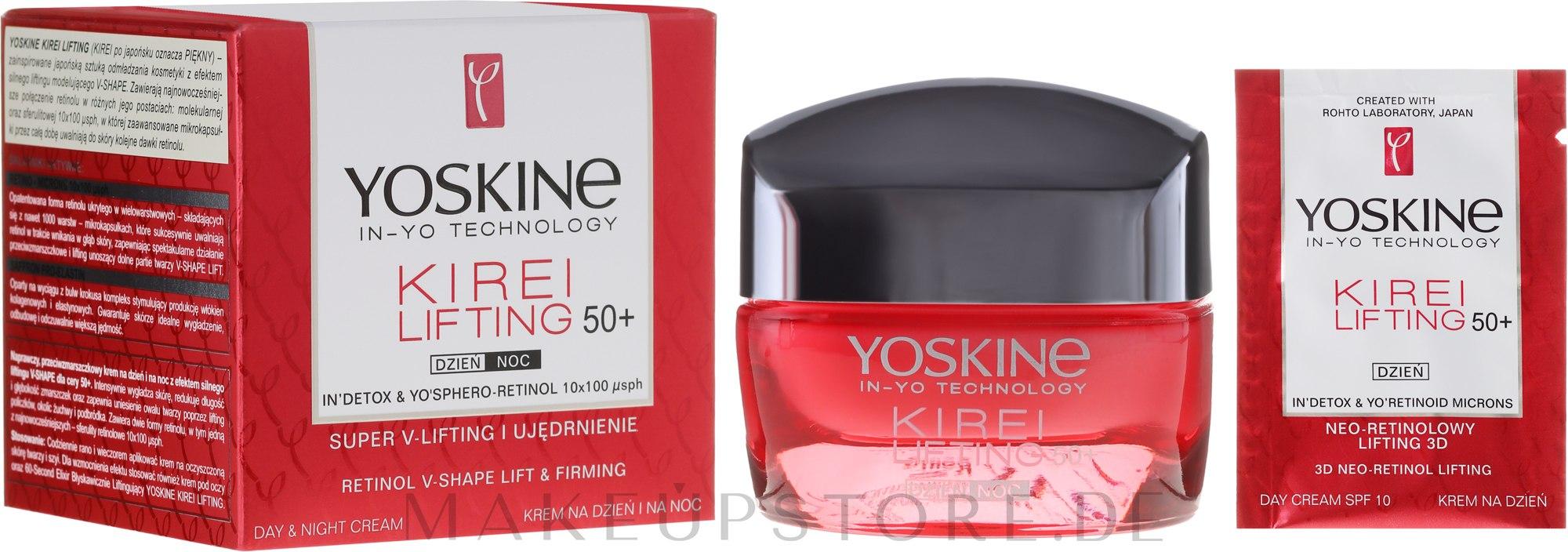 Reparierende Anti-Falten Tages- und Nachtcreme mit kraftvollem V-SHAPE-Lifting-Effekt - Yoskine Kirei Lifting Day Cream 50+ — Bild 50 ml