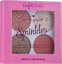Düfte, Parfümerie und Kosmetik Rouge- und Highlighter-Palette - I Heart Revolution Sprinkles