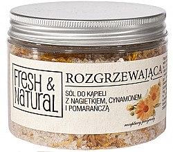 Düfte, Parfümerie und Kosmetik Entspannendes Badesalz mit Ringelblume, Zimt und Orange - Fresh&Natural