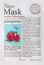 Düfte, Parfümerie und Kosmetik Straffende Gesichtsmaske mit Granatapfel - Ariul 7 Days Mask Lemon Pomegranate