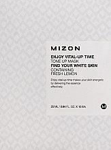 Düfte, Parfümerie und Kosmetik Aufhellende Gesichtsmaske mit Zitrone - Mizon Enjoy Vital-Up Time Tone Up Mask