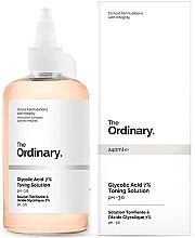 Düfte, Parfümerie und Kosmetik Erneuerndes Gesichtstonikum mit 7% Glykolsäure - The Ordinary Glycolic Acid 7% Toning Solution