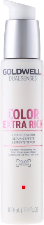 Intensives Haarserum für Farbbrillanz und Farbschutz für kräftiges, widerspenstiges und coloriertes Haar - Goldwell Dualsenses Color Extra Rich 6 Effects Serum