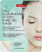 Düfte, Parfümerie und Kosmetik Aufhellende Gesichtsmaske - Purederm Cell Illuminating Hydro Pure Gel Mask