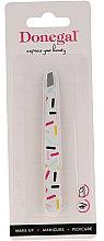Düfte, Parfümerie und Kosmetik Pinzette schräg Color 9372 weiß mit farbigen Streifen - Donegal