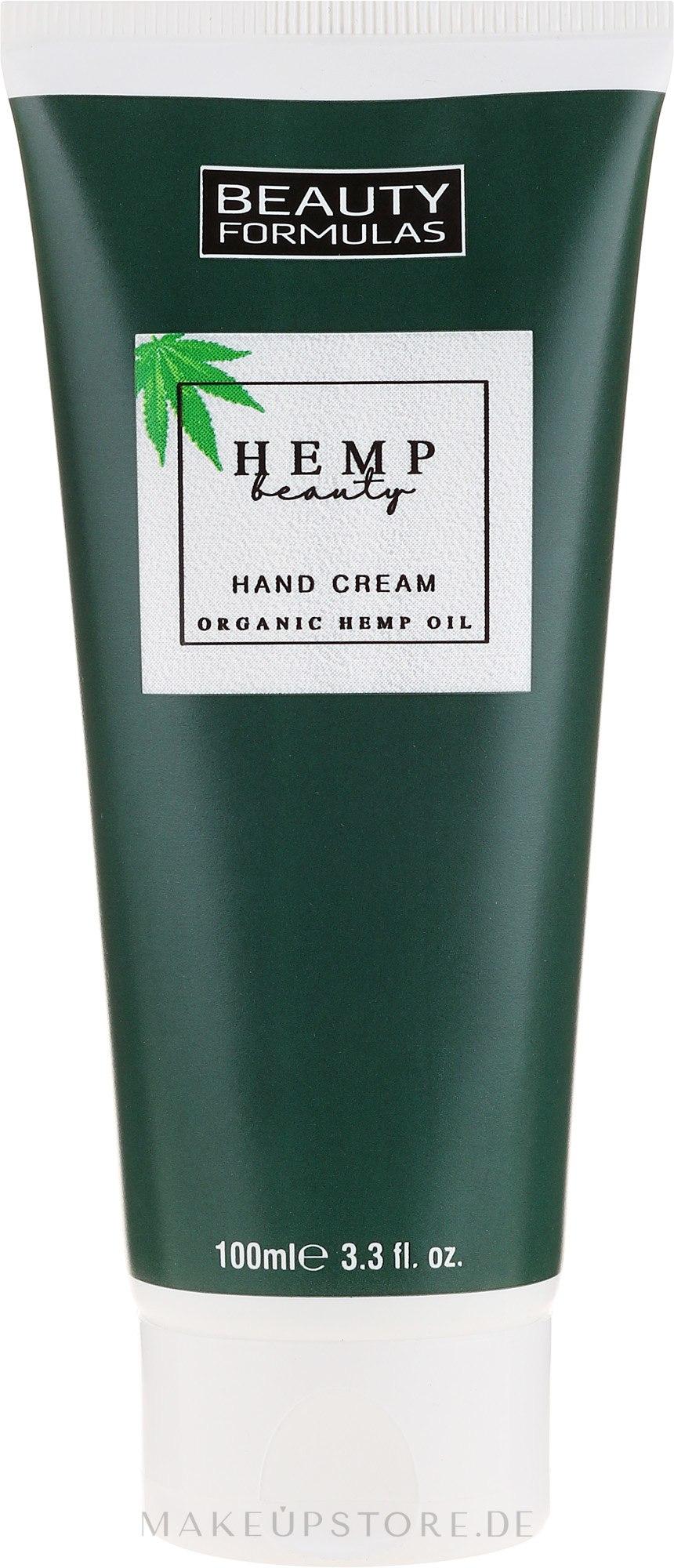 Handcreme mit Bio Hanföl - Beauty Formulas Hemp Beauty Oil Hand Cream — Bild 100 ml