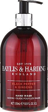 """Flüssige Handseife """"Schöllkraut"""" - Baylis & Harding Black Pepper & Ginseng Hand Wash"""