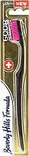Düfte, Parfümerie und Kosmetik Zahnbürste weich 6008 rosa - Beverly Hills Formula 6008 Filament Multi-Colour Toothbrush