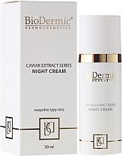 Düfte, Parfümerie und Kosmetik Nachtcreme mit Kaviarextrakt - BioDermic Caviar Extract Night Cream