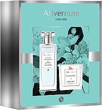 Düfte, Parfümerie und Kosmetik Allvernum Lilly & Jasmine Gift Set - Duftset (Eau de Parfum 50ml + Duftkerze 100g)