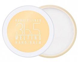 Düfte, Parfümerie und Kosmetik Feuchtigkeitsspendender Handbalsam für strahlendes geschmeidiges Hautbild - A'Pieu 36.5 Melting Hand Balm Purity Linen