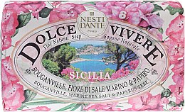 Düfte, Parfümerie und Kosmetik Naturseife Sicilia - Nesti Dante Natural Soap Bouganiville, Marine Sea Salt & Papyrus Tree Dolce Vivere Collection