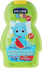 """Düfte, Parfümerie und Kosmetik Shampoo & Duschgel für Kinder """"Wassermelone"""" - On Line Kids Watermelon Wash"""