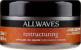 Düfte, Parfümerie und Kosmetik Restrukturierende Haarmaske mit Schokolade und Keratin - Allwaves Chocolate And Ceratine Restructuring Mask