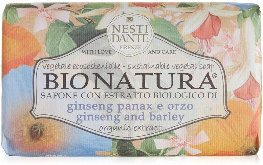 Naturseife Ginseng & Barley - Nesti Dante Vegetable Soap Bio Natura Collection — Bild N1