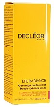 Düfte, Parfümerie und Kosmetik Gesichtspeeling mit ätherischen Ölen - Decleor Life Radiance Double Radiance Scrub