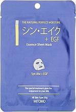 Düfte, Parfümerie und Kosmetik Tuchmaske für das Gesicht mit Schlangenpeptiden - Mitomo Essence Sheet Mask Syn-Ake + EGF