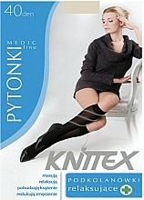 Düfte, Parfümerie und Kosmetik Damenkniestrümpfe mit entspannender Wirkung 40 Den light beige - Knittex