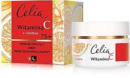 Düfte, Parfümerie und Kosmetik Aufbauende Anti-Falten Gesichtscreme mit Kalzium und Vitamin C 75+ - Celia Witamina C