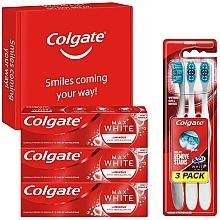 Zahnpflegeset - Colgate Box Max White Luminous (Zahnpasta 3x75ml + Zahnbürste 3 St.) — Bild N1