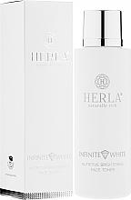 Düfte, Parfümerie und Kosmetik Pflegendes und aufhellendes Gesichtstonikum - Herla Infinite White Nutritive Brightening Face Toner