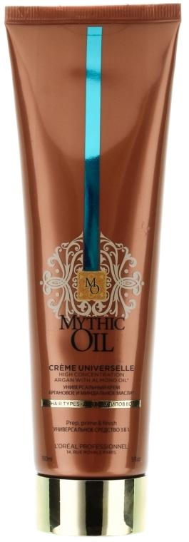 3in1 Nährendes Pre-Shampoo, Pflegeconditioner und Föhnbalsam mit Argan- und Mandelöl - L'Oreal Professionnel Mythic Oil Cream — Bild N1
