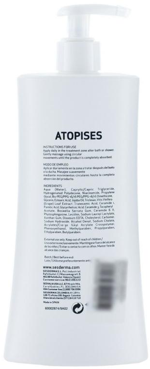 Beruhigende Körpermilch für trockene und atopische Haut - SesDerma Laboratories Atopises Body Milk — Bild N2