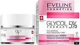 Düfte, Parfümerie und Kosmetik Korrigierende Nachtcreme mit Glykolsäure - Eveline Glycol Therapy Face Kream Night