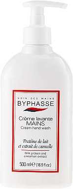 Flüssige Handseife Milchprotein und Zimt-Extrakt - Byphasse Liquid Cream Hand Wash Milk Protein And Cinnamon Extract — Bild N1