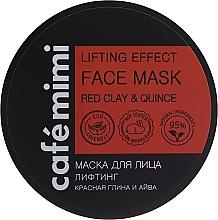 Düfte, Parfümerie und Kosmetik Liftingmaske für das Gesicht mit rotem Ton und Quitte - Cafe Mimi Deep Lifting Effect Face Mask
