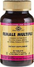 Düfte, Parfümerie und Kosmetik Nahrungsergänzungsmittel Vitamin- und Mineralkomplex für Frauen - Solgar Female Multiple