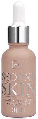 3in1 Make-up Base, Concealer und Foundation - Wibo Second Skin 3in1 — Bild N1