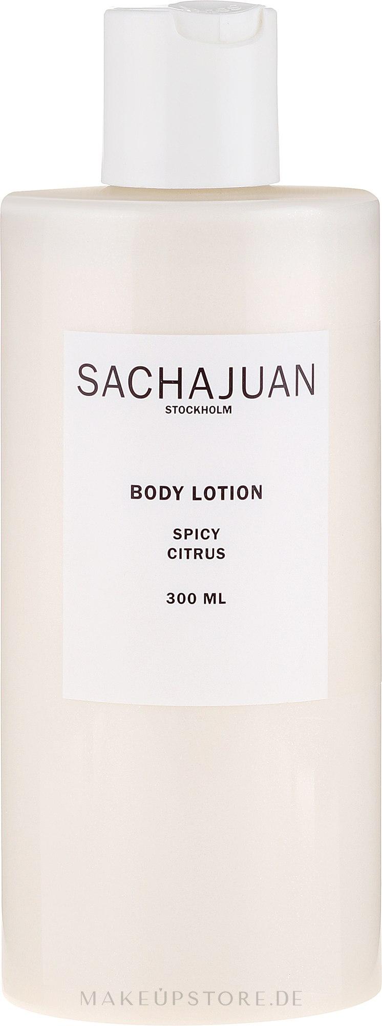 Körperlotion mit würzigen Zitrusfrüchten - Sachajuan Spicy Citrus Body Lotion — Bild 300 ml