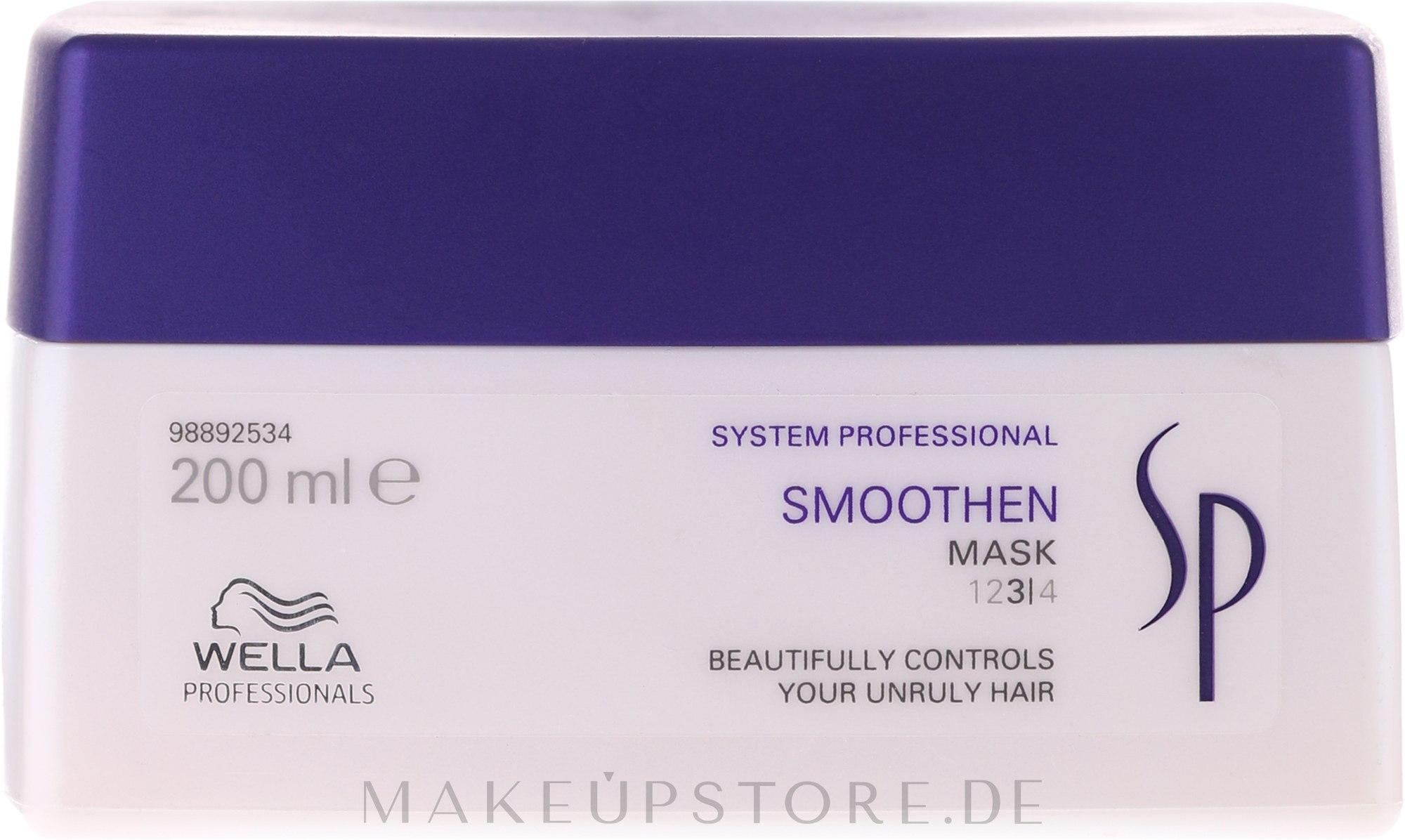 Glättende Intensivkur für dickes, widerspenstiges und rebellisches Haar - Wella SP Smoothen Mask — Bild 200 ml