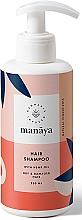 Düfte, Parfümerie und Kosmetik Shampoo mit Hanföl für trockenes und strapaziertes Haar - Manaya Hair Shampoo With Hemp Oil