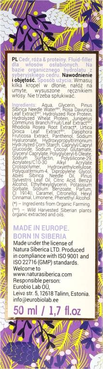 Nährender Haarfiller mit Vitamin A, B, D, E und pflanzischen Proteinen - Natura Siberica Super Siberica Professional Fluid-Filler Hydra Volume — Bild N3