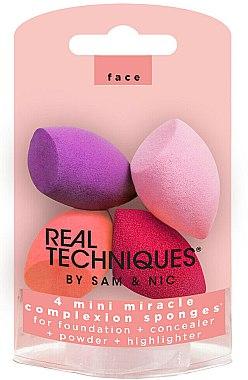 Make-up Schwamm-Set 4 St. - Real Techniques Miracle Complexion Sponges Mini — Bild N1