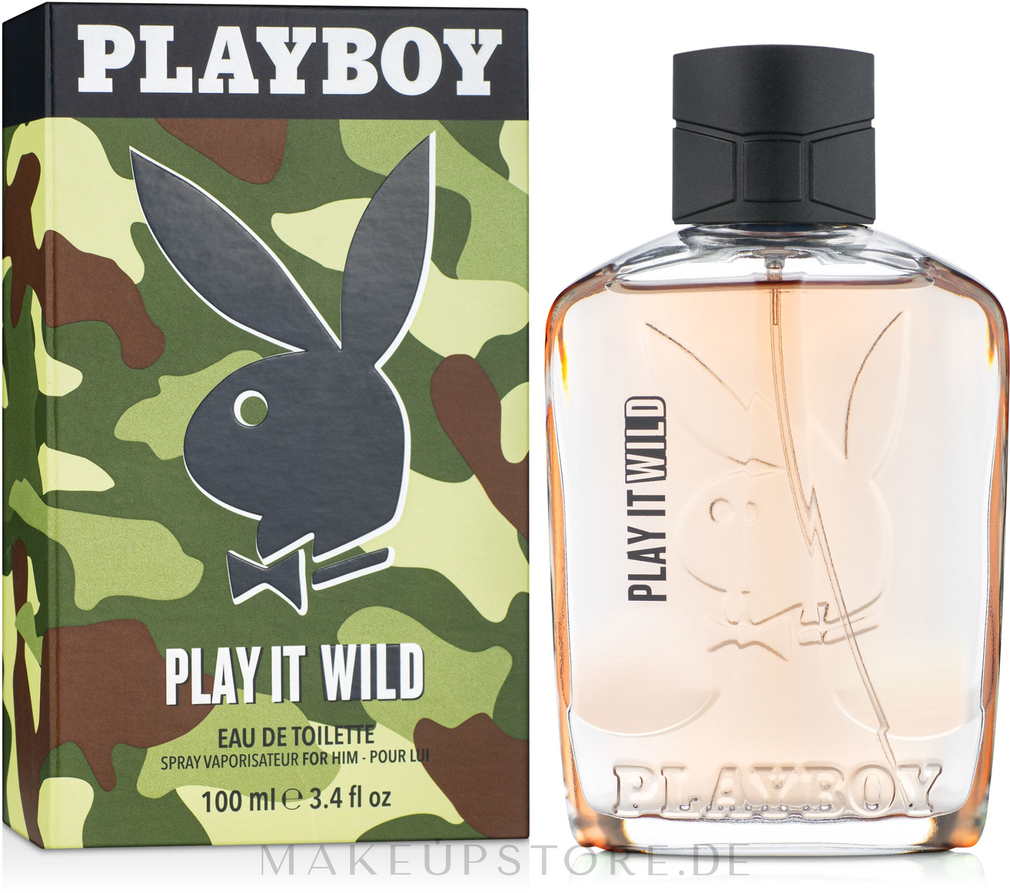 Playboy Play It Wild For Him - Eau de Toilette — Bild 100 ml