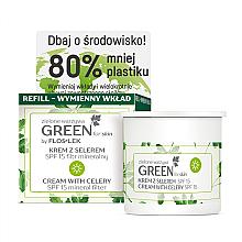 Düfte, Parfümerie und Kosmetik Tagescreme für das Gesicht mit Sellerie SPF 15 - Floslek Green For Skin Day Cream Refill