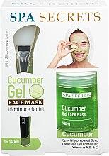 Düfte, Parfümerie und Kosmetik Gesichtspflegeset - Spa Secrets Cucumber Gel Face Mask (Gesichtsmaske 140ml + Pinsel zum Auftragen von Masken 1St.)