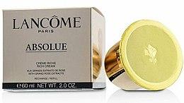 Düfte, Parfümerie und Kosmetik Feuchtigkeitsspendende Gesichtscreme (Refill) - Lancome Absolue Creme Riche Rich Cream Refill Moisturizers & Treatments