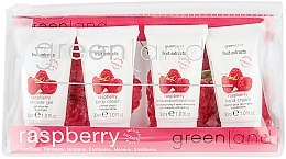 Düfte, Parfümerie und Kosmetik Körperpflegeset - Greenland Fruit Extracts Raspberry (2in1 Shampoo&Conditioner 30ml + Duschgel 30ml + Körpercreme 30ml + Handcreme 30ml)